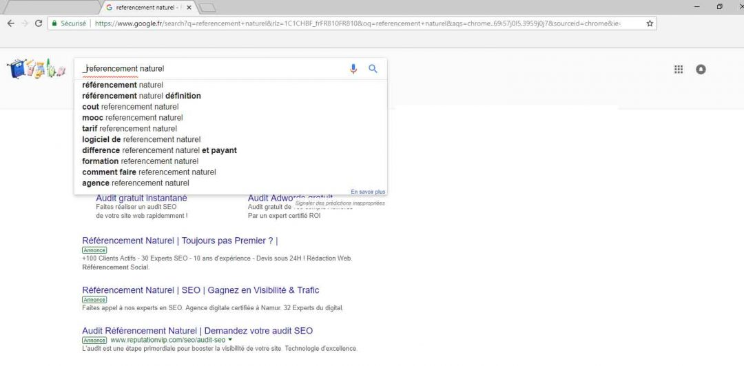Google Suggest astuce
