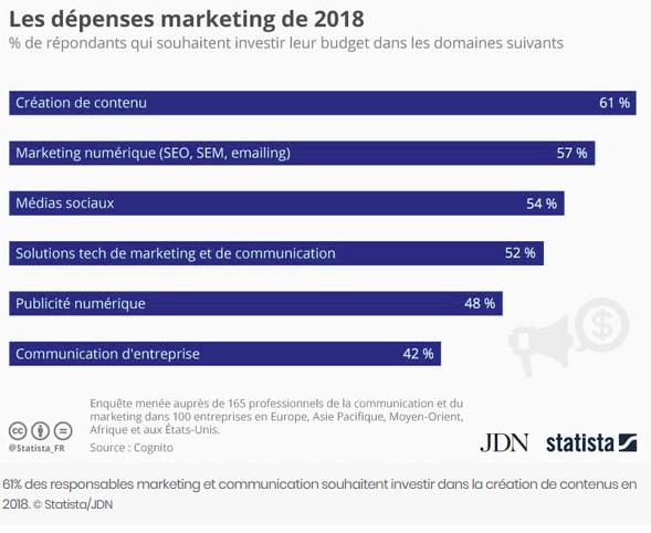 Répartition Dépense marketing