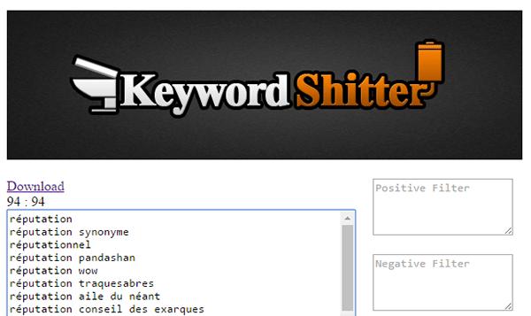 Screenshot keywordshitter
