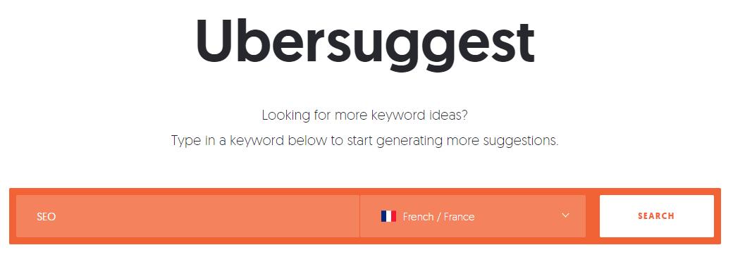 Comment utiliser Ubersuggest ?