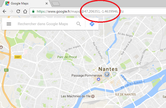 Latitude longitude Googlemaps