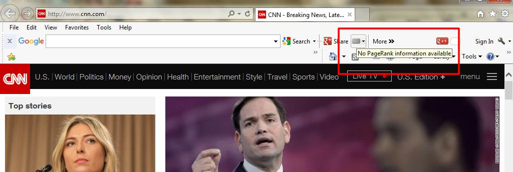 Google supprime l'affichage du PageRank