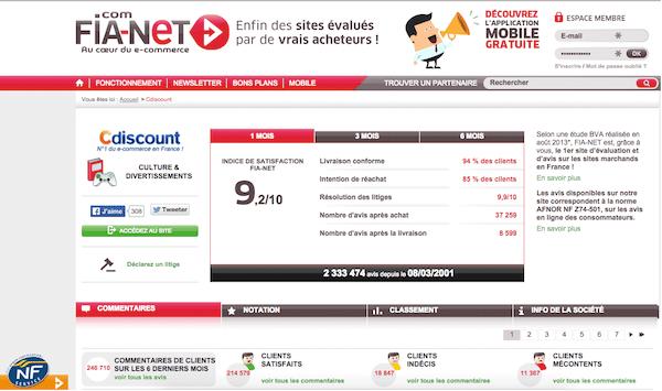 Fia-net e-réputation e-commerçant achat en ligne