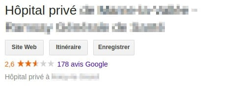 Capture Google Hopital privé