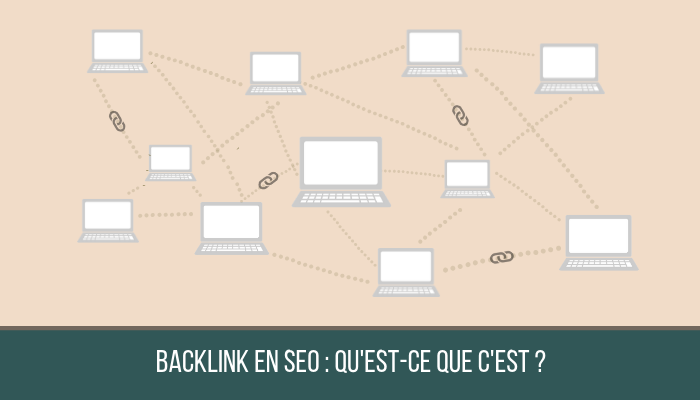 schéma ordinateurs reliés par des liens - backlinks seo