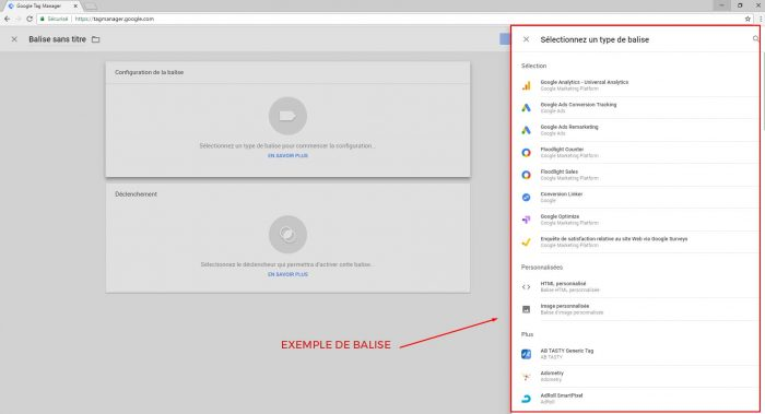 Balise Google Tag Manager