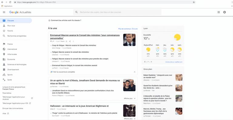 C'est quoi Google news