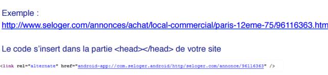 exemple lien profond google indexe apps