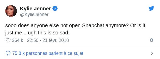 les conséquences d'un tweet sur le CA snapchat