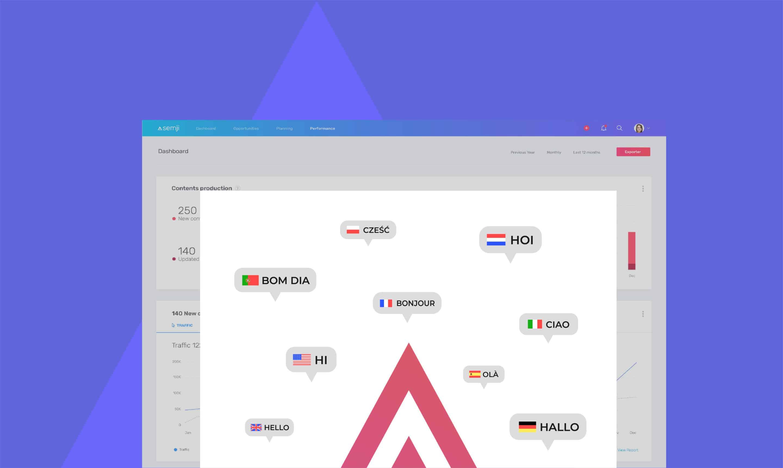 SEO international :  optimisez vos contenus pour 128 pays et 8 langues avec Semji !
