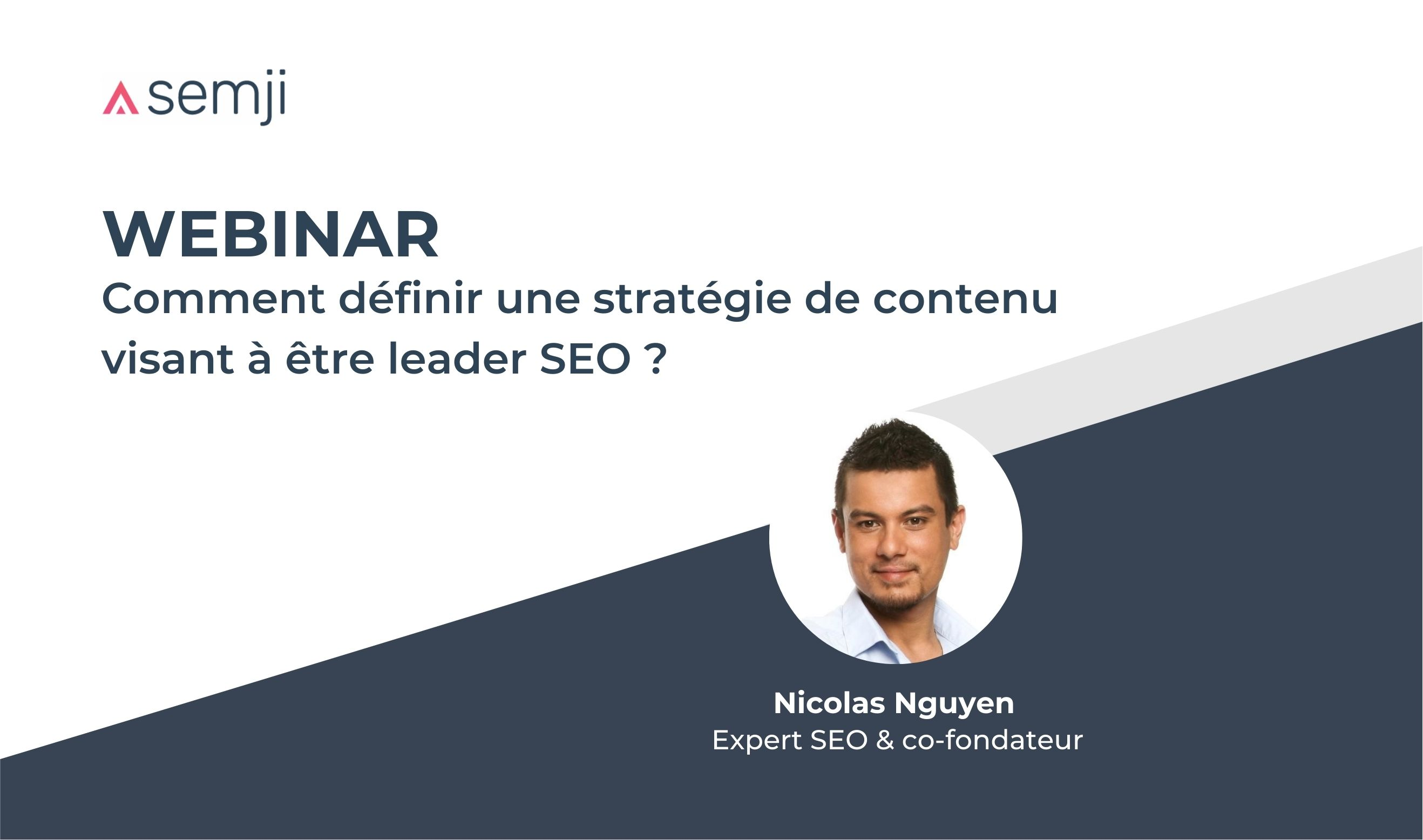 Visuel webinar devenir leader seo