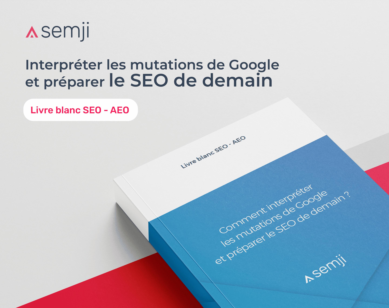 Livre Blanc – SEO, AEO : Interpréter les mutations de Google et préparer le SEO de demain